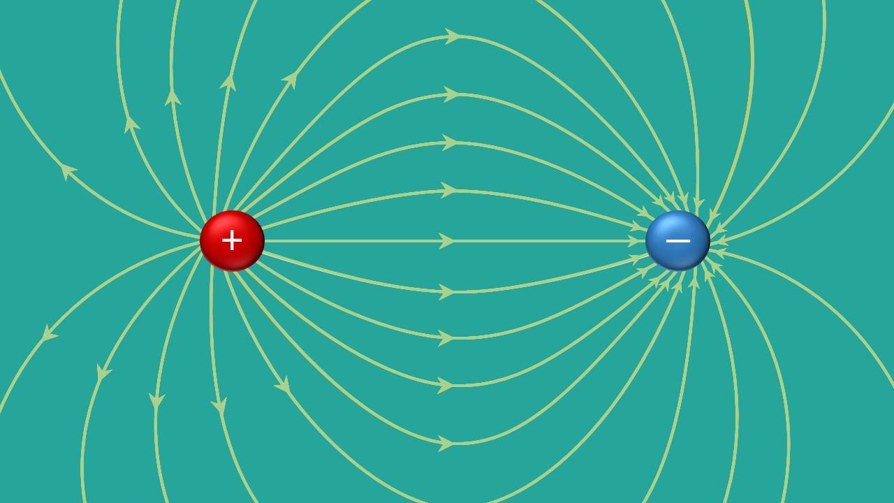 elektrisches Feld, Feldlinien, Feldstärke, elektrische Feldstärke, Ladungen, E-Feld, Ladung, Elektron, Proton