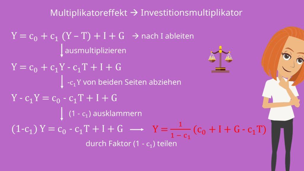 Multiplikatoreffekt: Investitionsmultiplikator