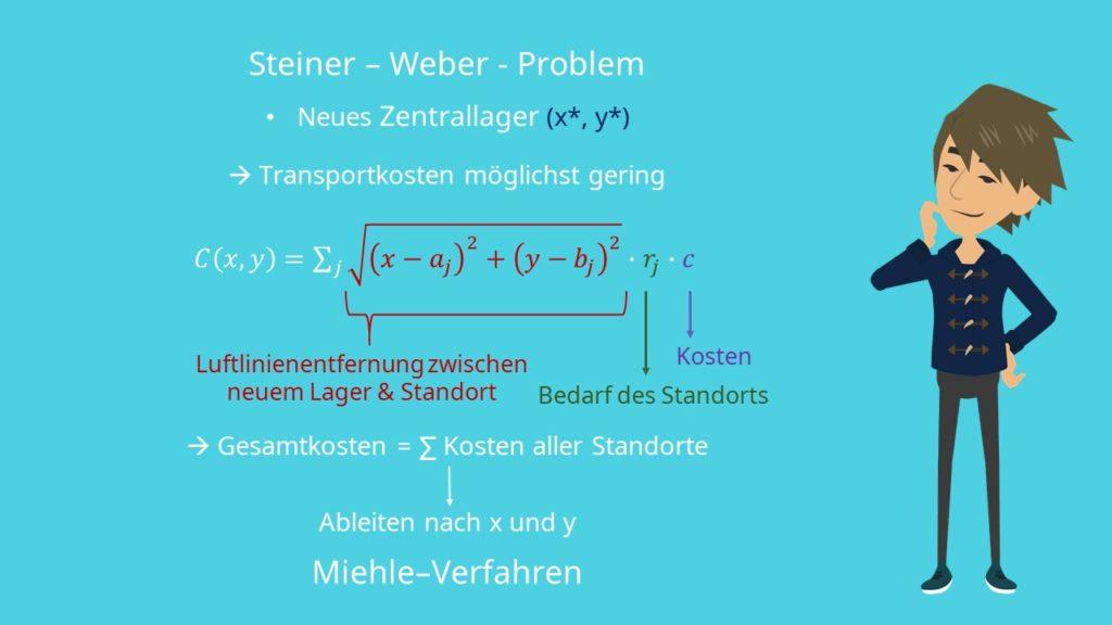 Steiner-Weber-Problem Formel