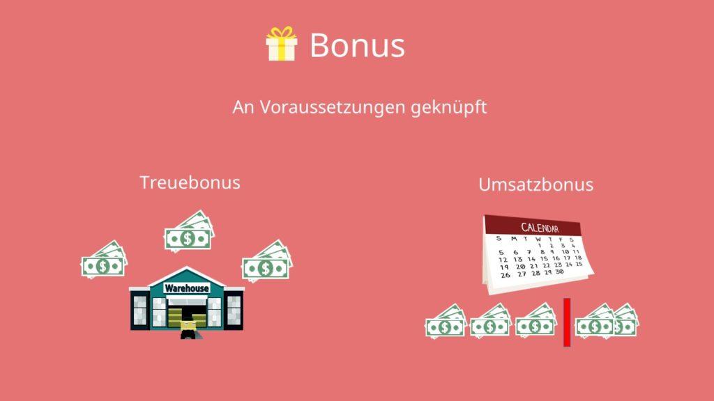 Preisnachlässe berechnen: Bonus