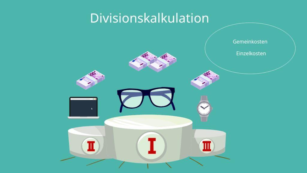 Kostenträgerrechnung Divisionskalkulation