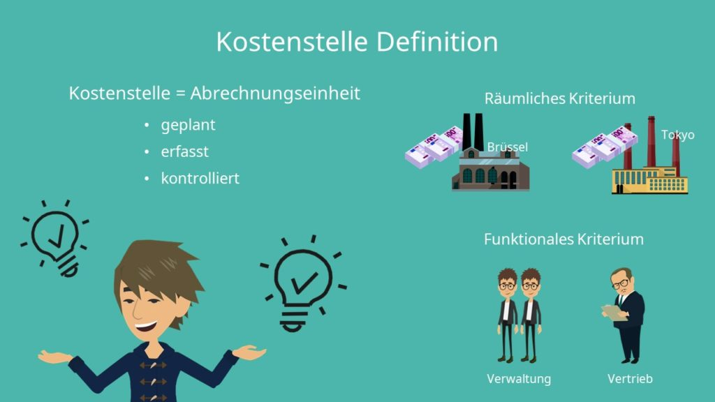 Kostenstellenrechnung: Kostenstelle Definition