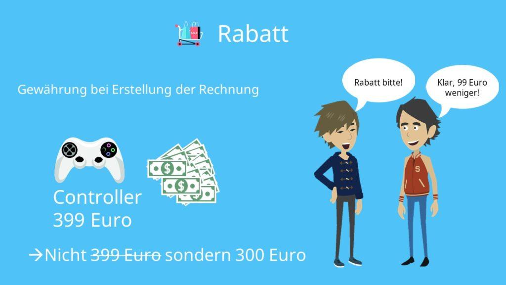 Preisnachlässe berechnen: Rabatt
