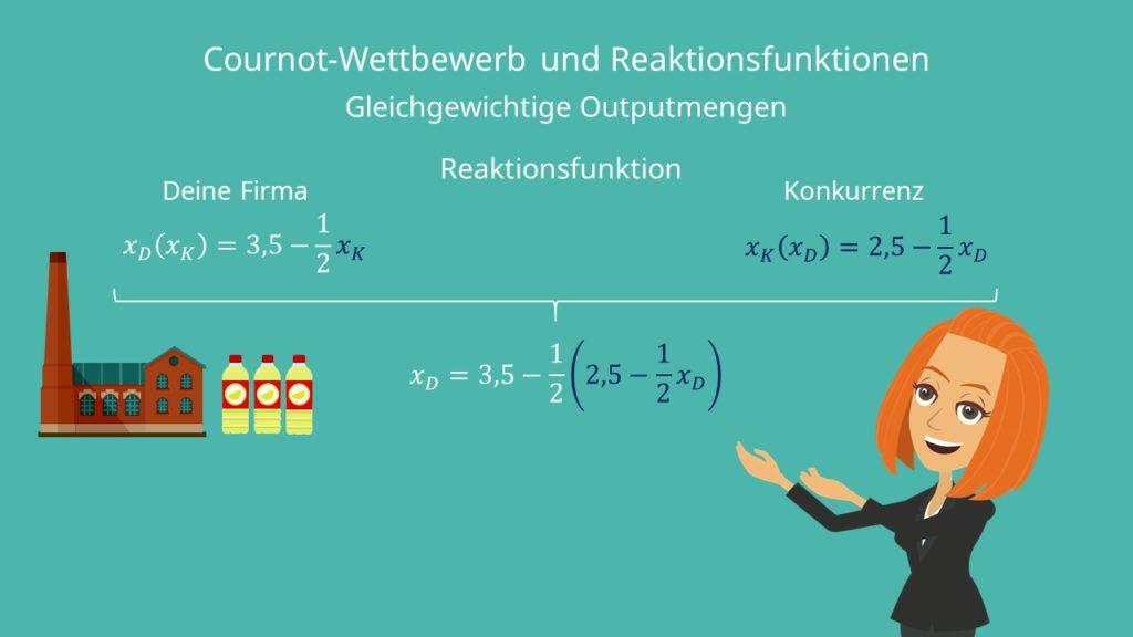 Reaktionsfunktion, Reaktionsfunktion berechnen, Reaktionsfunktion aufstellen