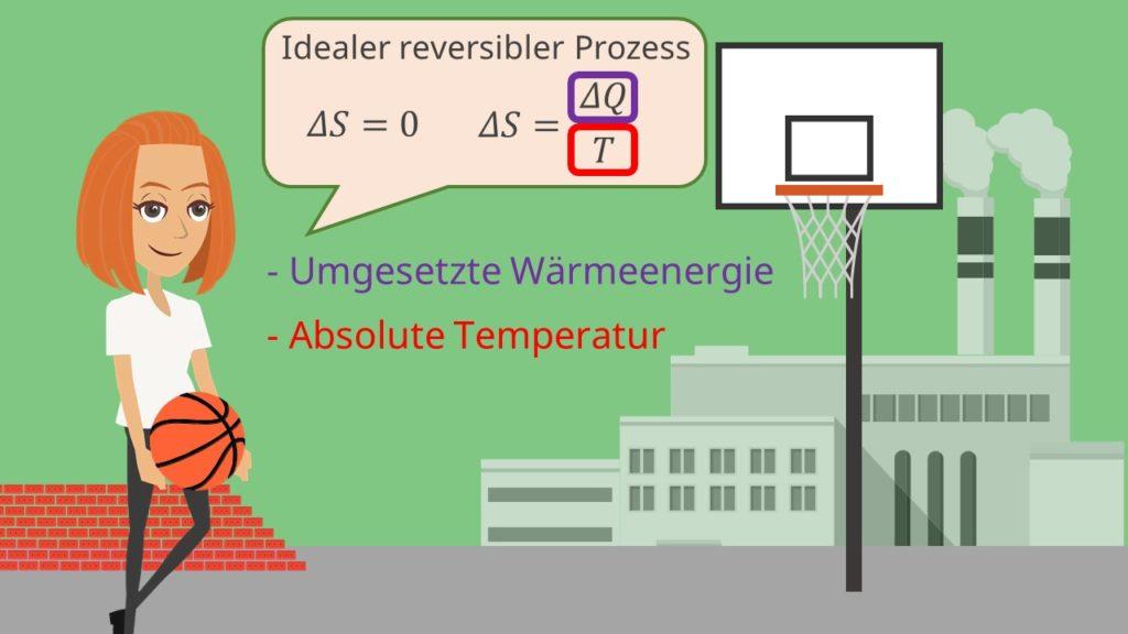 Entropie, Wärme, Temperatur, Reversibilität, Enthalpie, innere Energie