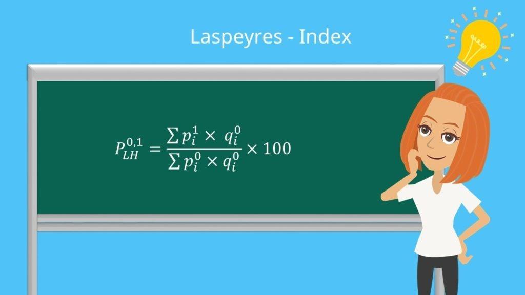 Formel zur Berechnung des Laspeyres Index