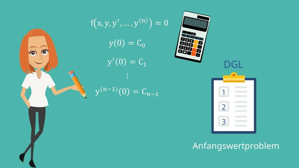 Anfangswertproblem, Anfangswertproblem lösen, Differentialgleichung