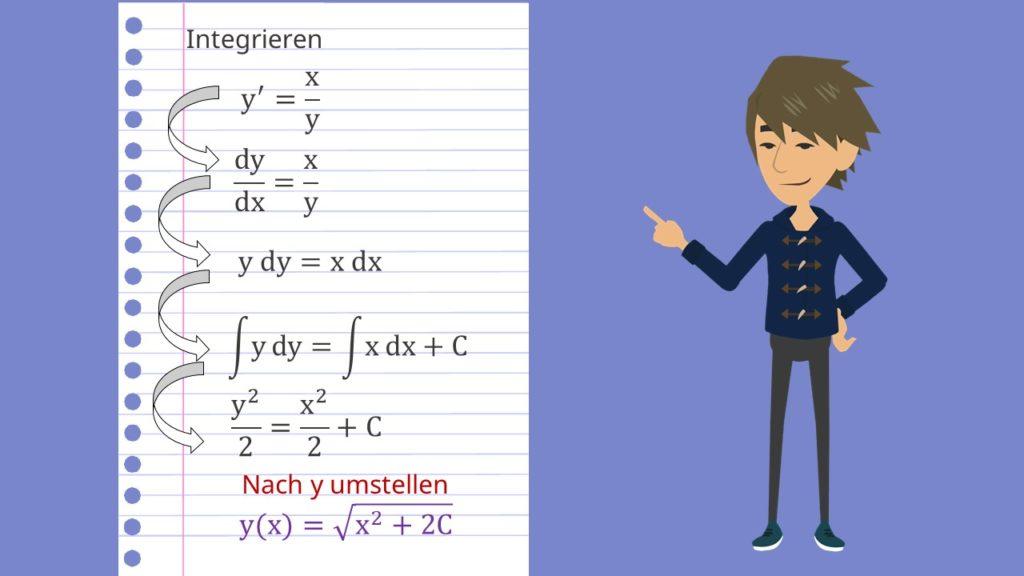 Trennung der Variablen: Beispiel