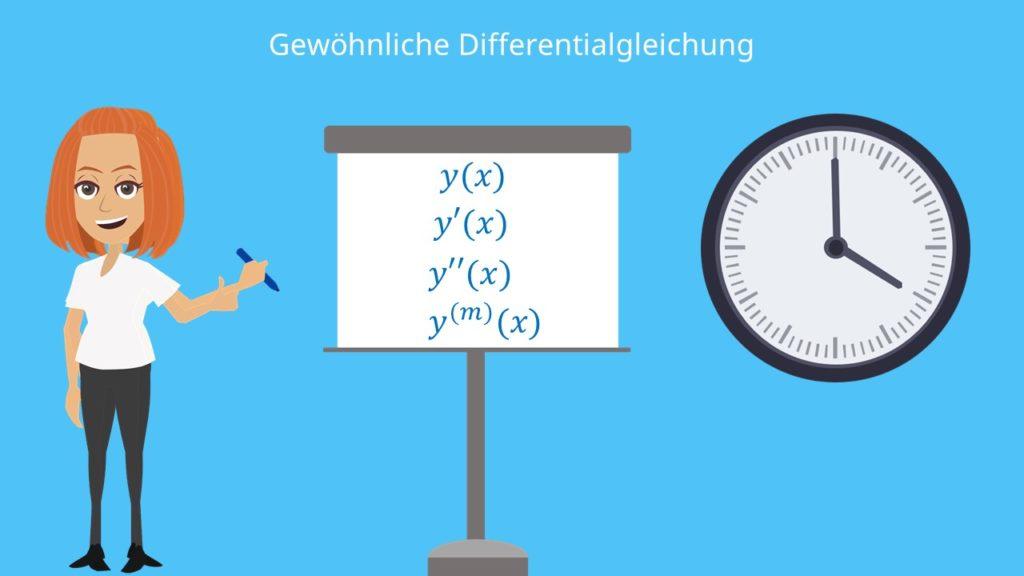 Gewöhnliche DGL, gewöhnliche Differentialgleichung, gewöhnliche Differentialgleichung Beispiel