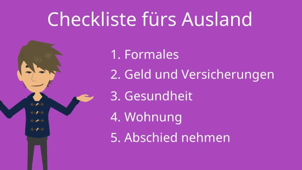 Checkliste fürs Ausland