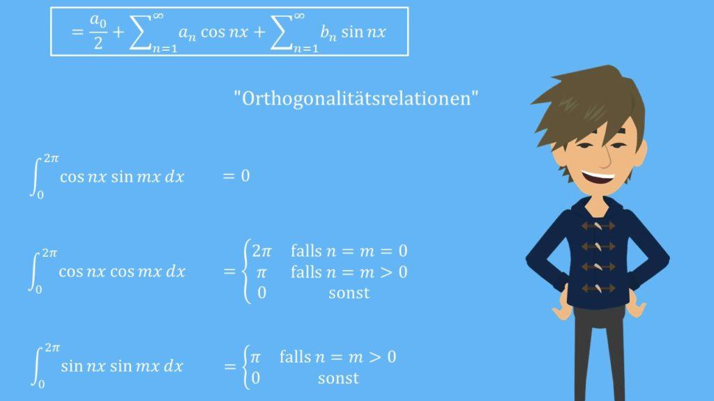 Fourierreihen: Orthogonalitätsrelationen