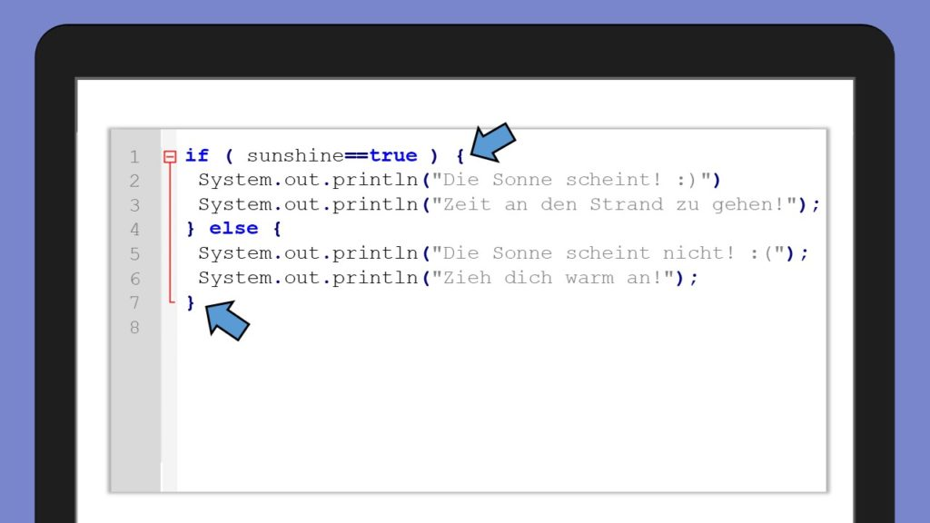 if else in Java, else Java, if else Java Beispiel