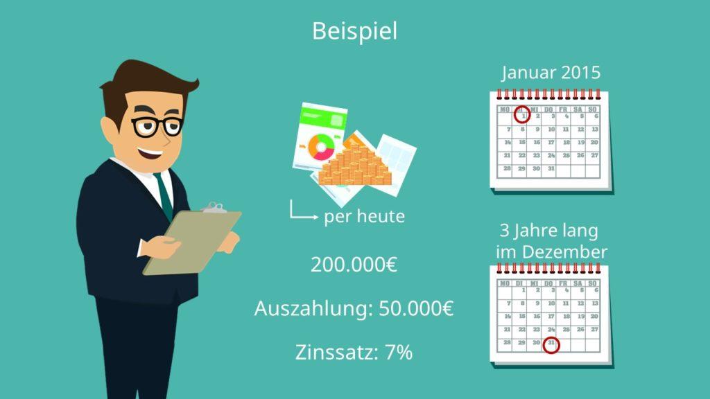 Rentenbarwert, Rentenbarwertfaktor, Rentenbarwert berechnen, Rentenbarwert Aufgaben, Rentenbarwertformel