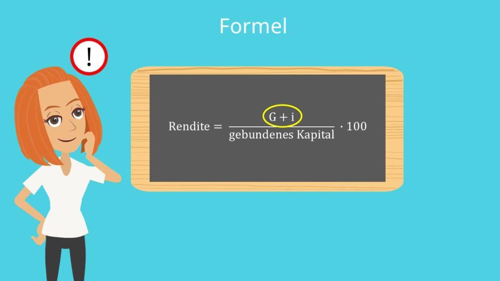 Rentabilitätsformel, gebundenes Kapital, Rendite Formel