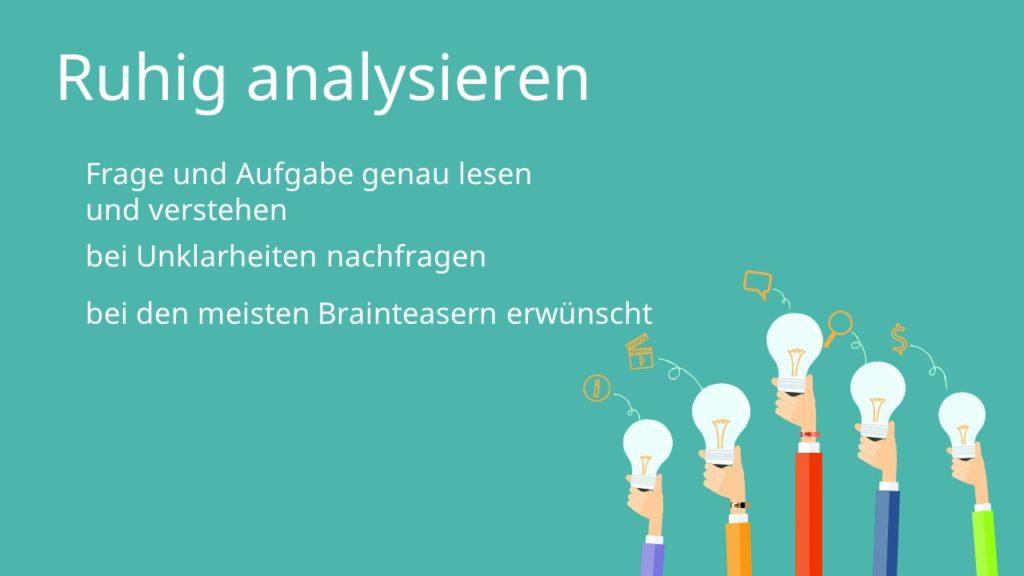 Brainteaser Analyse