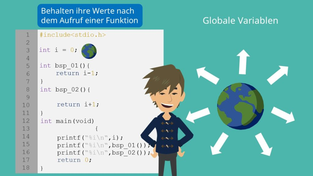 Globale Variablen C