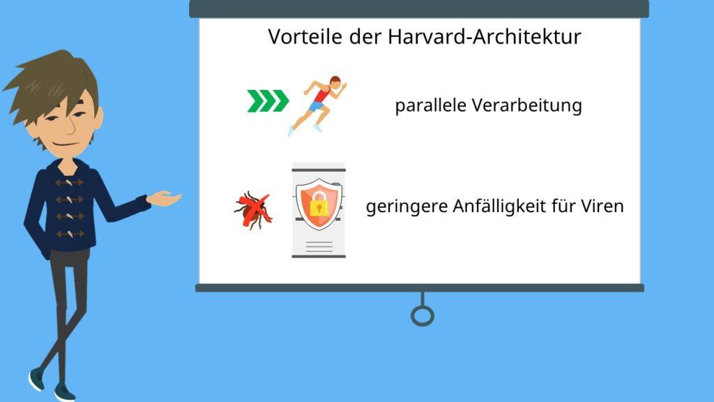 Vorteile der Harvard-Architektur