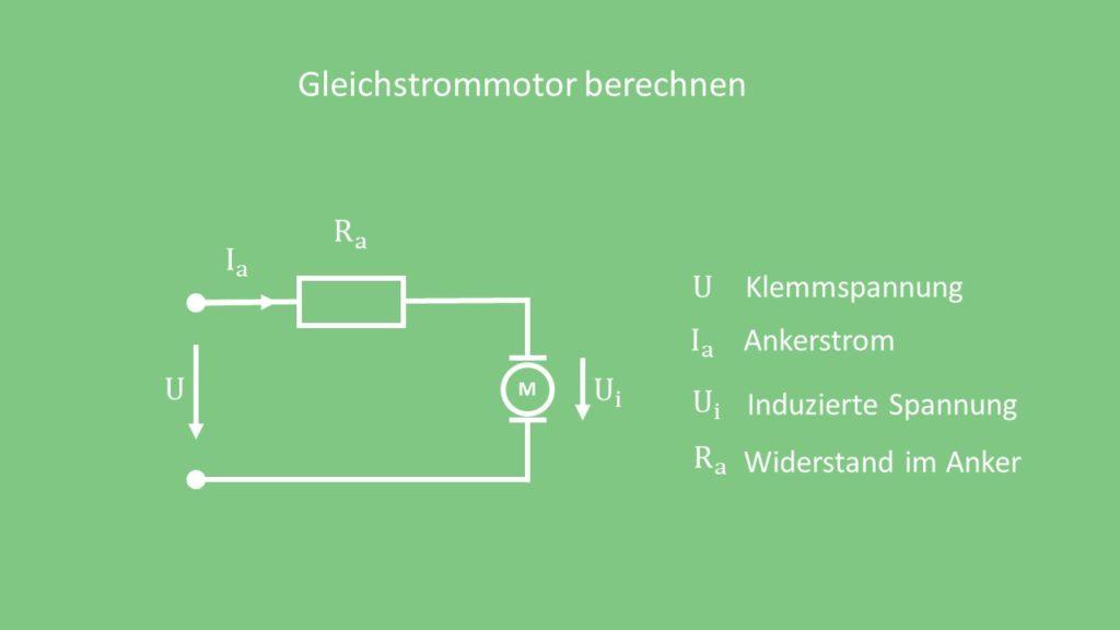 Gleichstrommotor Berechnung Gleichstrommotor berechnen Klemmspannung Ankerstrom
