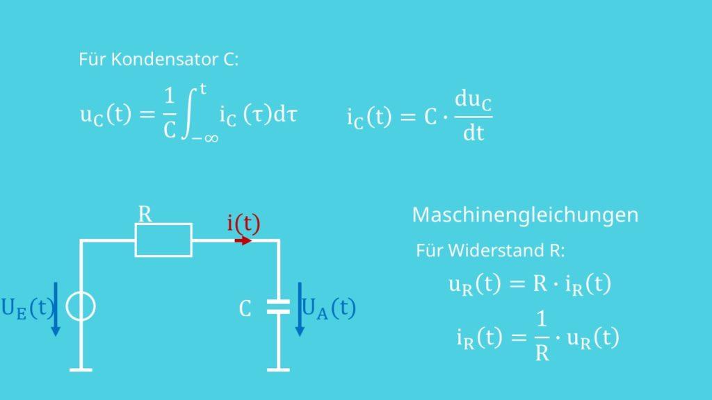 Gleichung für Kondensator und Widerstand