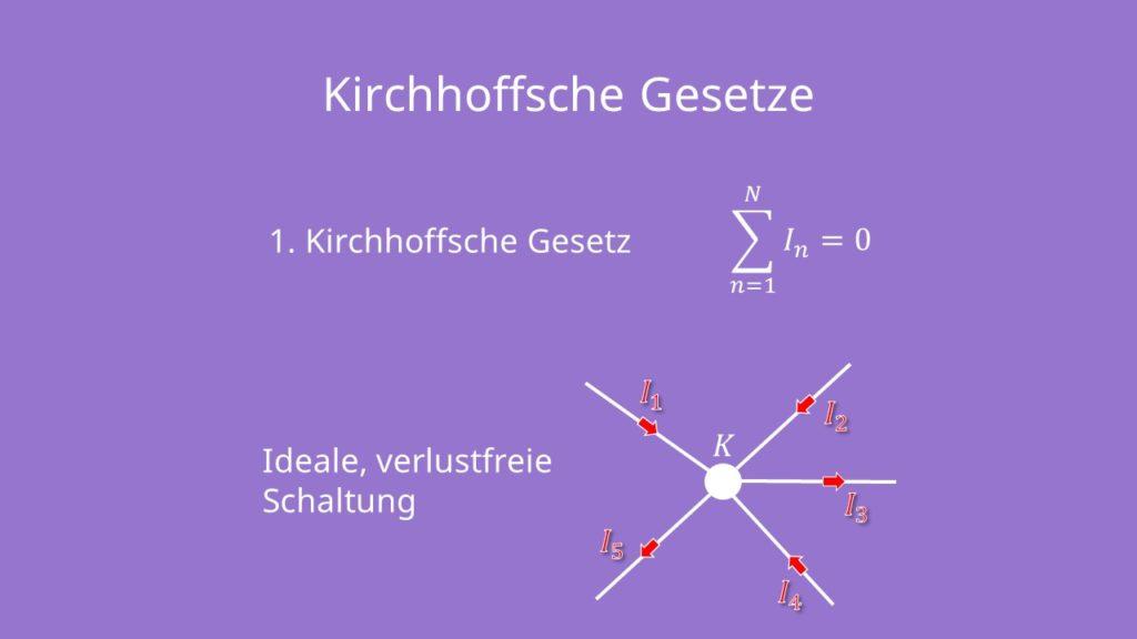 Kirchhoffsche Regeln, Kirchhoffsche Gesetze, Maschenregel, Knotenregel