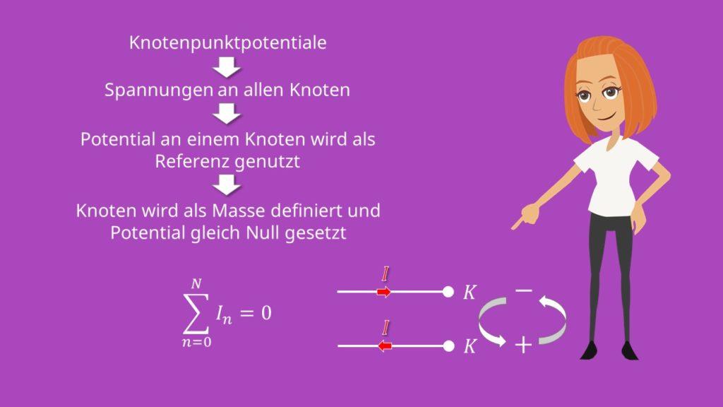 Knotenpotentialverfahren, Knoten, Stromrichtung