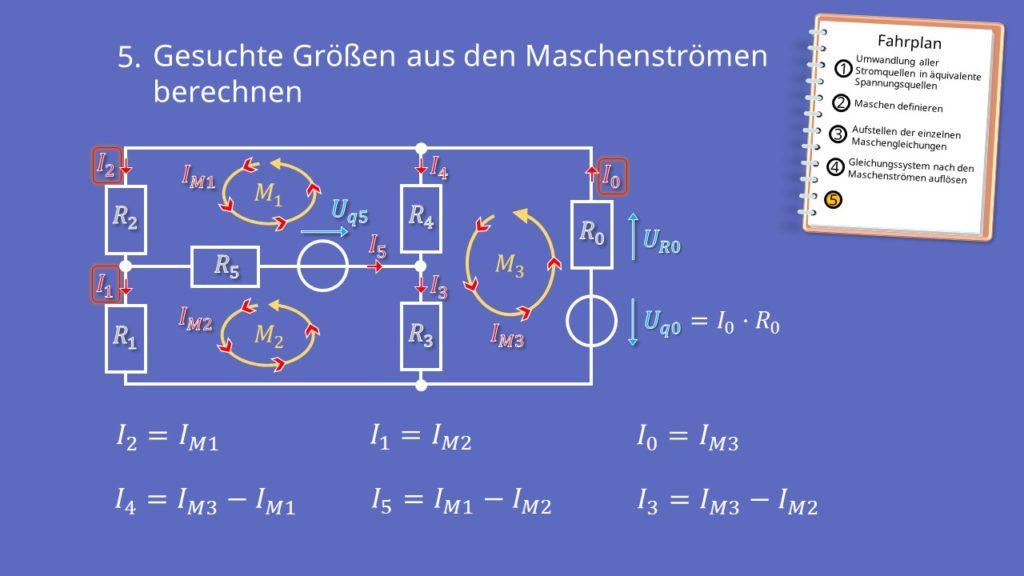 Maschenstromverfahren, Netzwerkanalyse, Maschen, Knoten, Matrix, Maschenströme