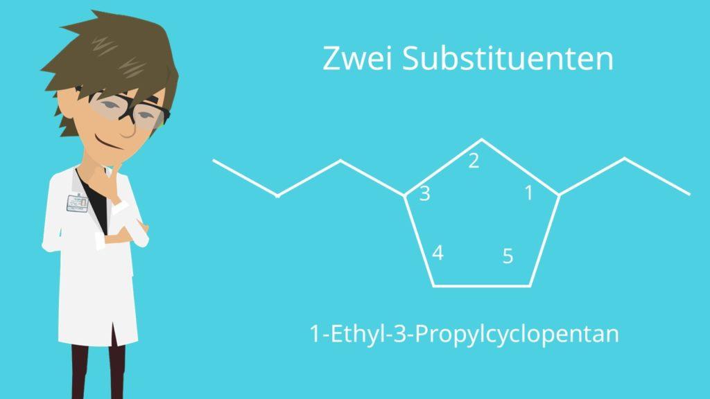 Cycloalkane mit zwei Substituenten