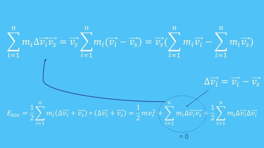 Schwerpunktgeschwindigkeit, Massenpunkte, Massenpunktsystem, Massen, Geschwindigkeit, Energie, kinetische Energie