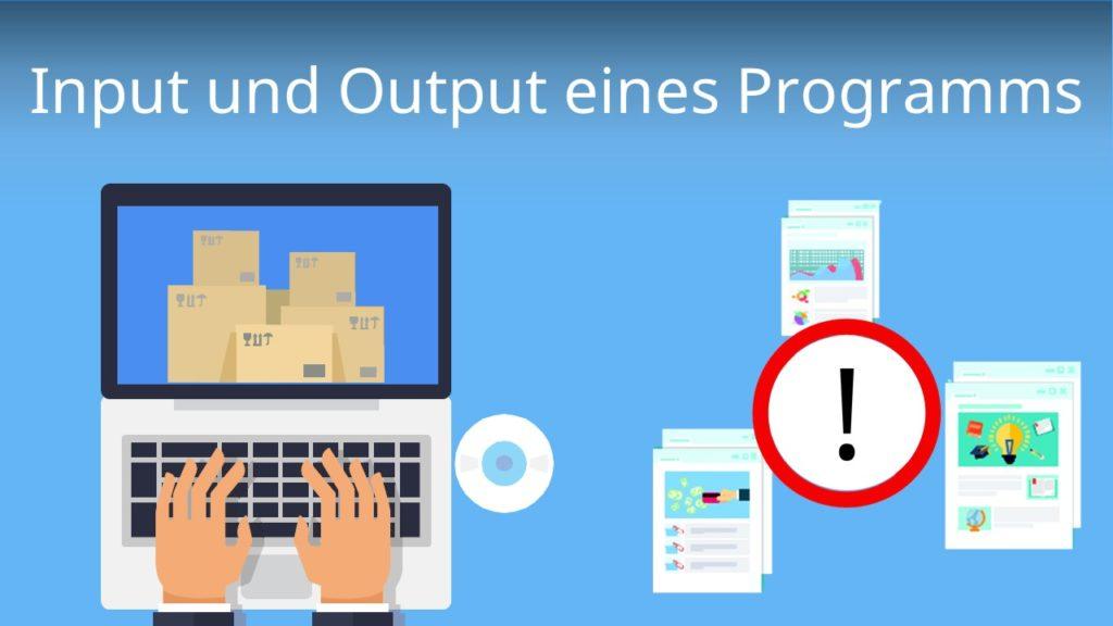 Input und Output eines Programms