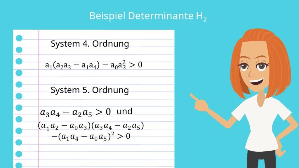 Determinante Stabilitätskriterium Hurwitz