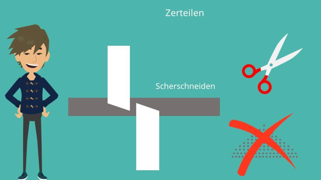 Trennende Verfahren Zerteilen Scherschneiden