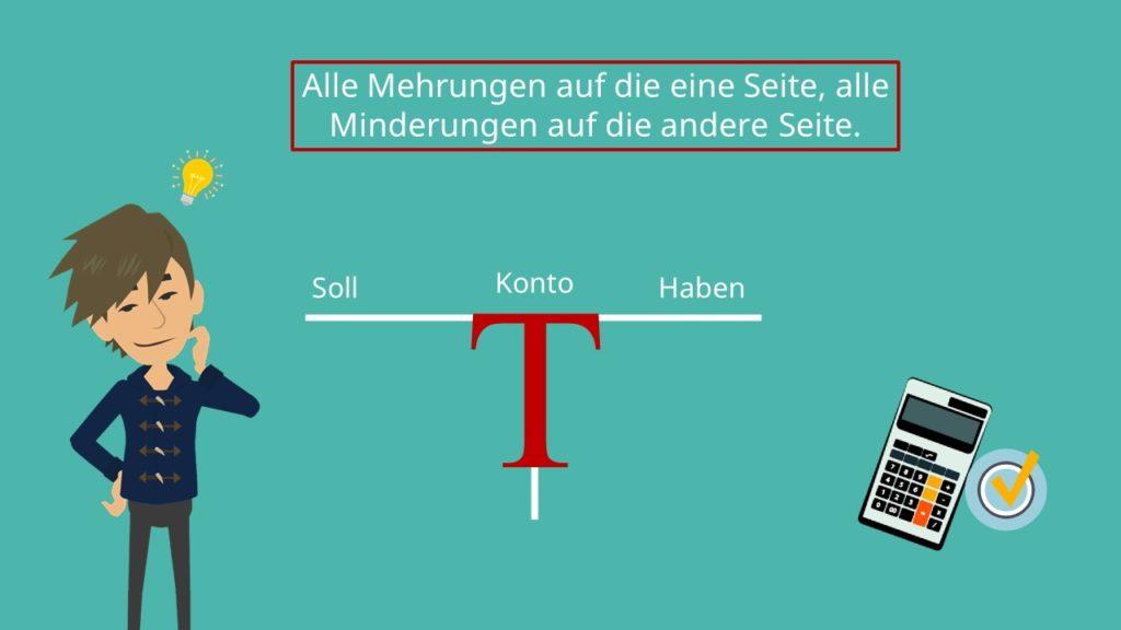 T-Konten, Soll ,Habend, Mehrung, minderung
