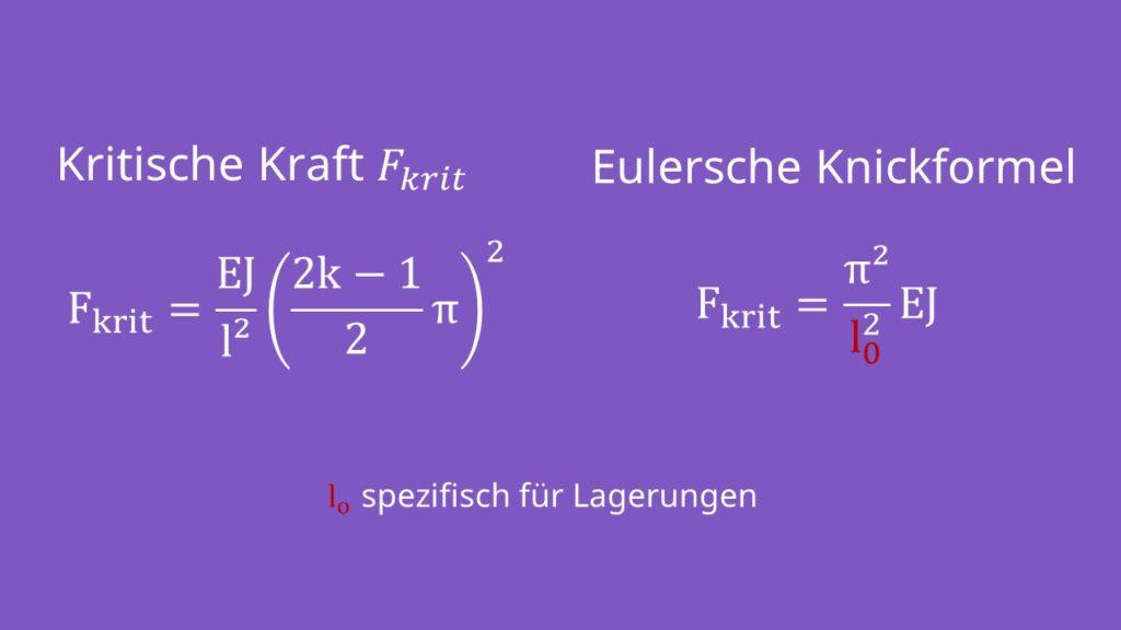 Euler Knicken, Knickfälle