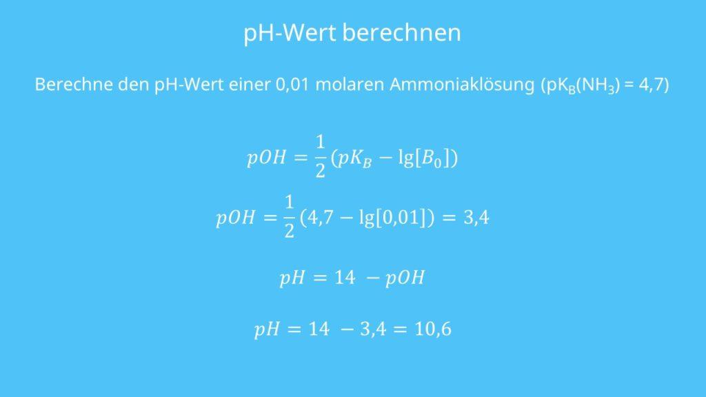 Beispiel pH-Wert