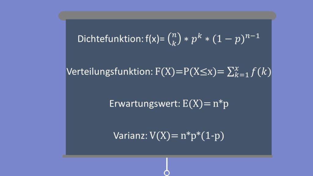 Formeln Binomialverteilung