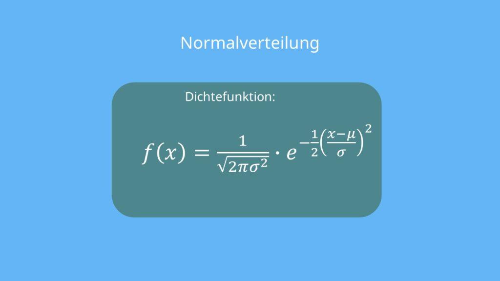 Dichtefunktion Normalverteilung