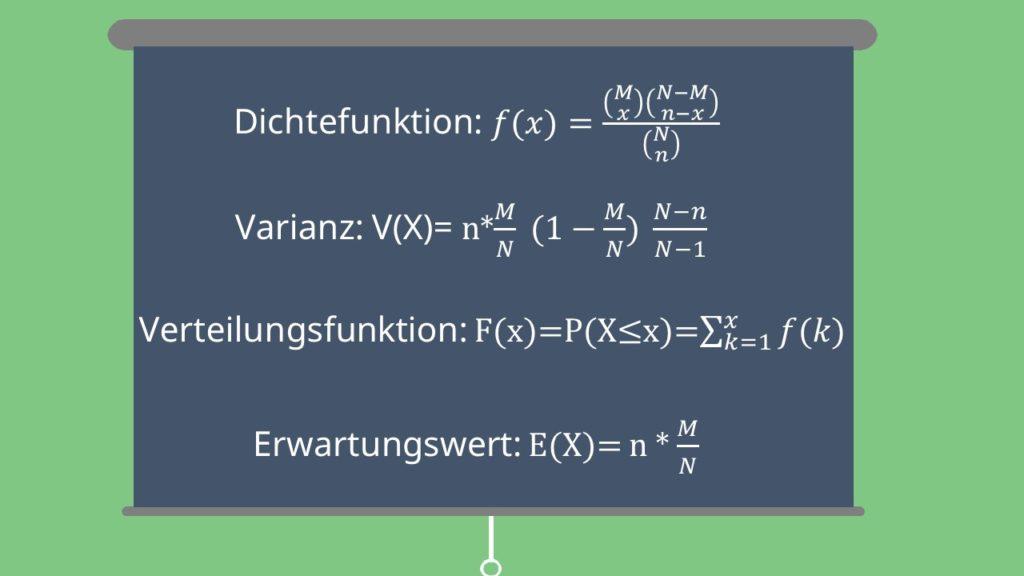 Hypergeometrische Verteilung Formeln