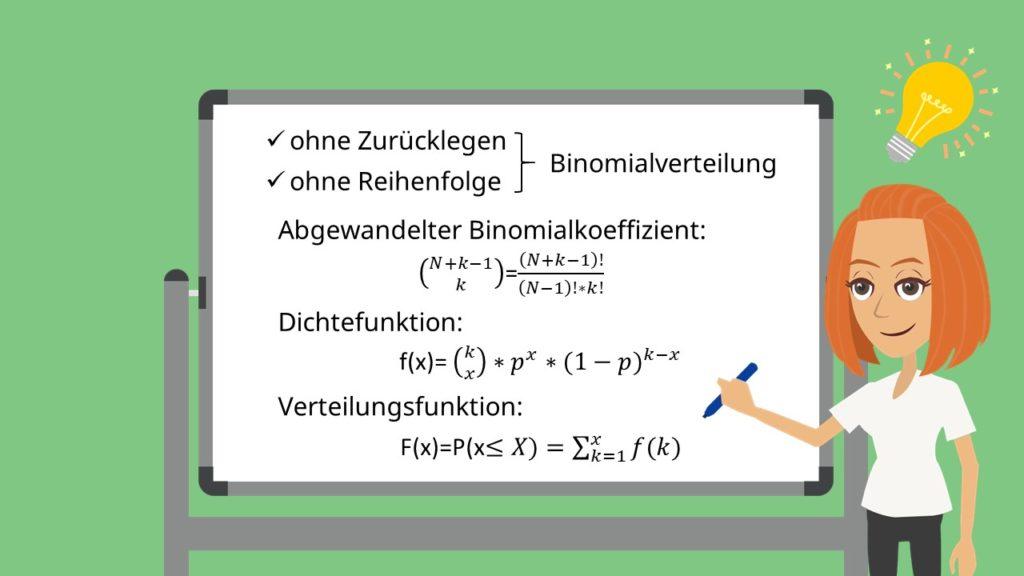 Binominalverteilung, Dichtefunktino, Verteilungsfunktion