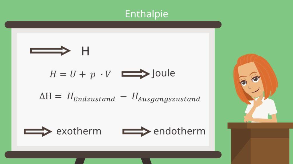 Enthalpie exotherm und endotherm