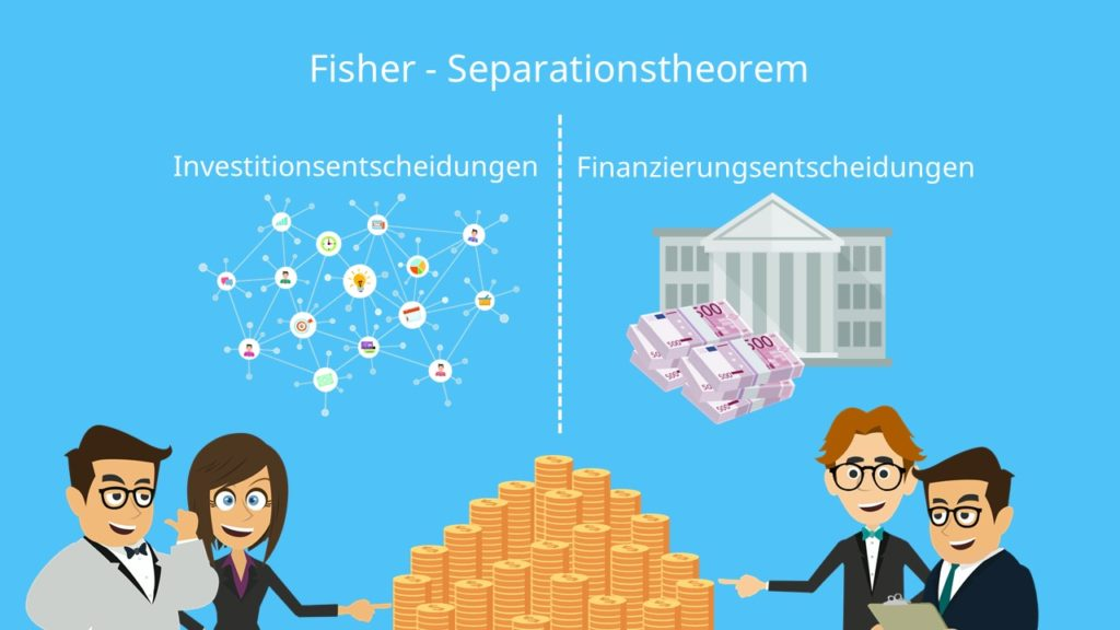 Fisher-Seperationstheorem, Fisher Seperation, Investitionsentscheidungen Finanzierungsentscheidungen