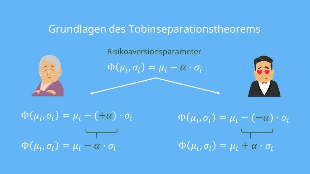 Risikoaversionsparameter Tobin Seperation Grundlagen Tobinseperationstheorem