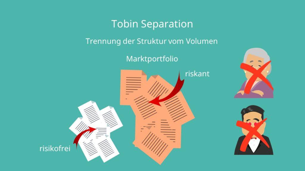 Kapitalmarkttheorie, Tobin Seperation, Marktportfolio