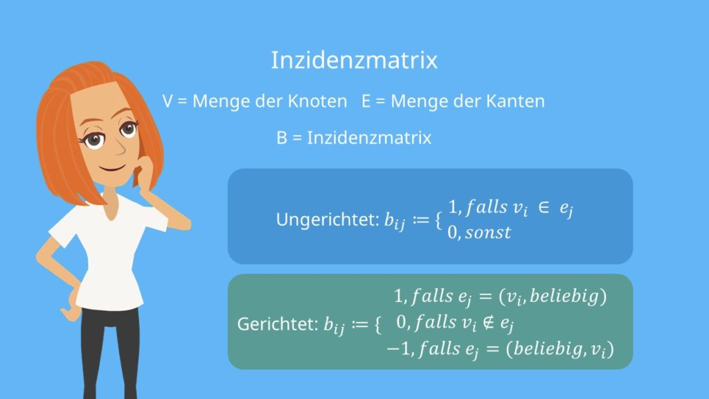Inzidenzmatrix formal formuliert