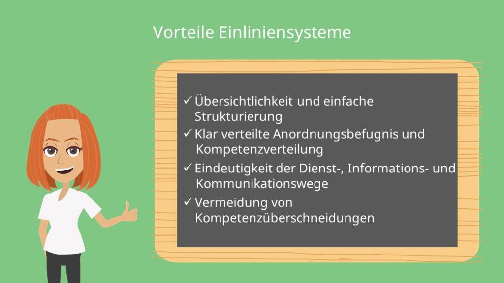 Kompetenzüberschneidung, Kompetenzverteilung, Einliniensystem