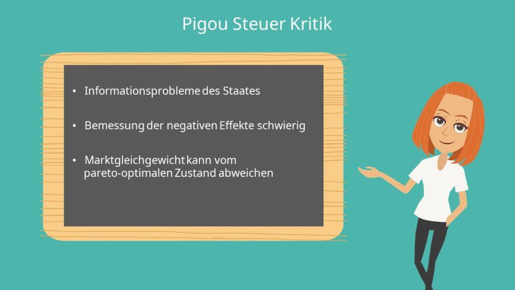 Informationsproblem, Pigou Steuer