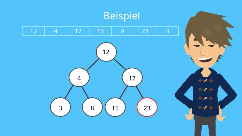 Binärer Suchbaum, Binären Suchbaum erstellen