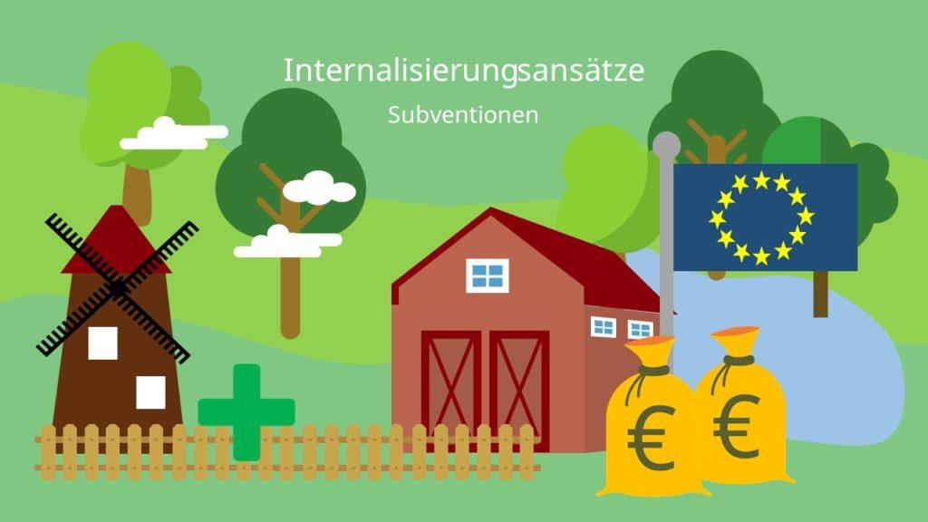 Internalisierung externer Effekte, Internalisierungsansätze, Subventionen