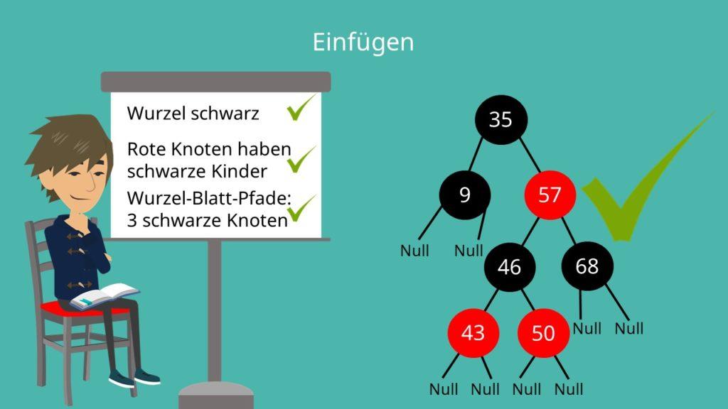 Rot-Schwarz-Baum Einfügen Beispiel
