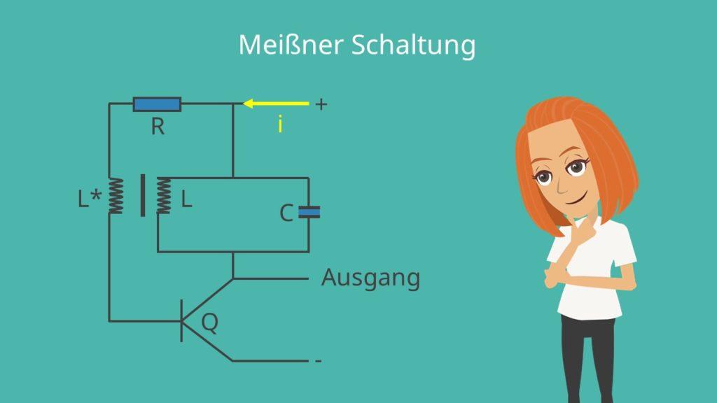 Meißner-Oszillator, LC-Schwingkreis, Oszillator, Meißner Oszillator, Meißner Schaltung, Schwingkreisschaltung