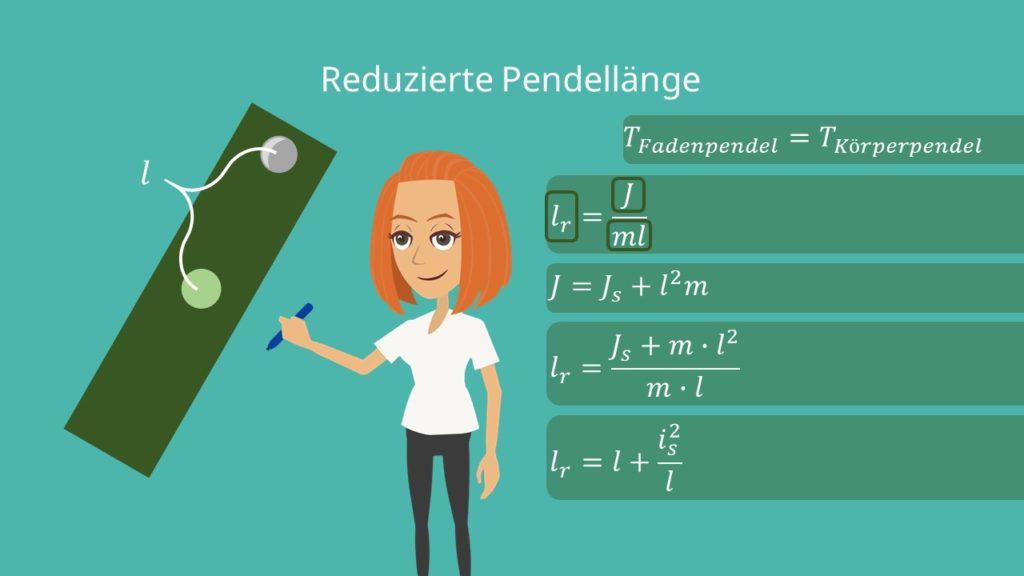 Physikalisches Pendel, reduzierte Pendellänge, Trägheitsmoment, Trägheitspendel, Ausgleichspendel, starrer Körper, Aufhängepunkt